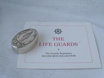 "Solid Sterling Silver ""The Life Guards"" Box 1979/ L 5.5 cm"