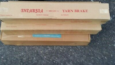 Intarsia multi yarn brake.