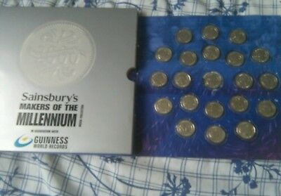 Sainsburys Makers of the Millennium Medal/ coins Collection ( Complete set)