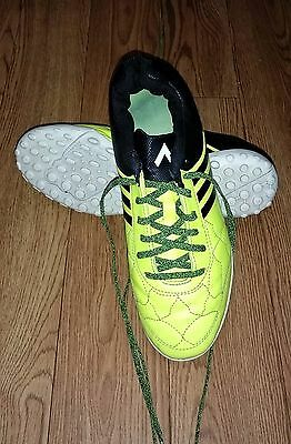 Men's yellow Football Adidas Astro Turf Trainers Size 9 UK