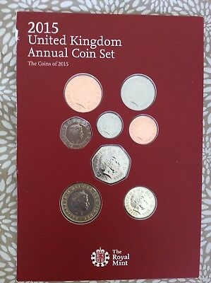 8 Coins From 2015 & booklet... please see photos & description