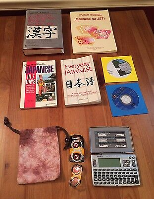 Lot Casio EX-word Electronic Dictionary XD-80A & Learn Japanese Books Everyday