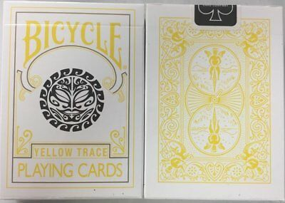 Bicycle Yellow Trace Playing Cards Sun Moon Design