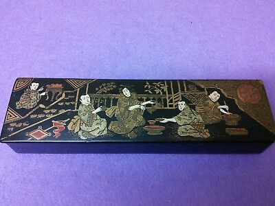 antique japanese lacquered box