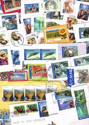 AUSTRALIA International Post kiloware / stamp mixture. High values only! Nice!