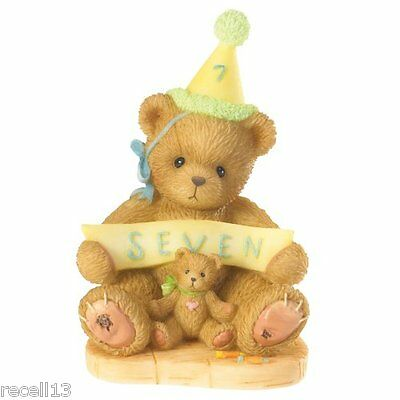 Cherished Teddies Sign Says You're Seven  Figurine