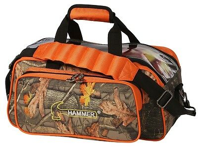 Hammer 2 Ball Shoulder Tote Bowling Bag ORANGE CAMOFLAGE