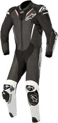 Alpinestars ATEM v3 1-Piece Leather Riding Suit (Black/White) Choose Size