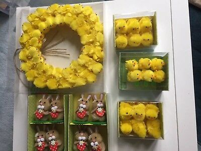 Easter Collection Wreath Bunnies Chicks