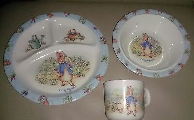 Beatrix Potter Vintage 3 Piece Melamine Set New Nib 1996