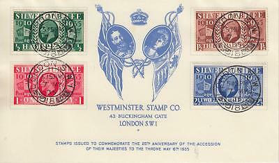 GB 1935 Silver Jubilee illustrated FDC this is the well known FORGERY example