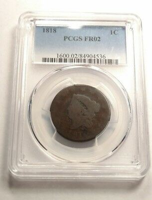 1818 Coronet Head Large Cent PCGS FR02 Lowball Type!