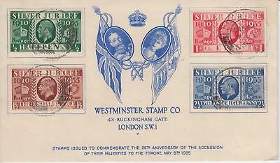 GB 1935 Silver Jubilee Westminster illust FDC 100% Genuine Cat £600