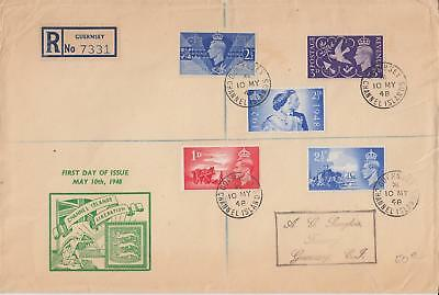 GB 1948 Channel Islands Liberation illustrated FDC Guernsey CDS Cat £30+ LOOK!