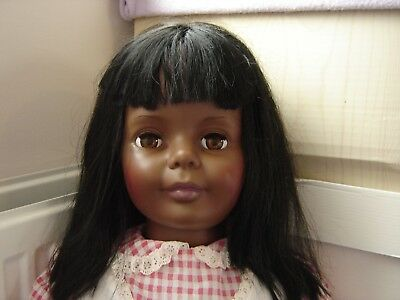 Ideal Toy Corp. Vintage AFRICAN AMERICAN Playpal Collectible DOLL w Clothes EUC