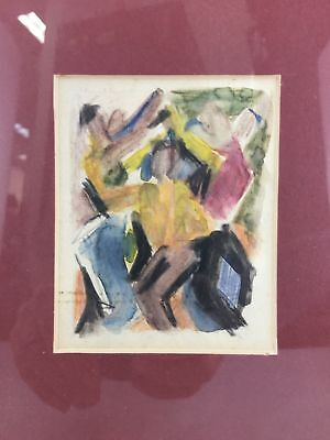 Seymour Fogel Multicolor Abstract, Water Color on Paper, unsigned with authenti