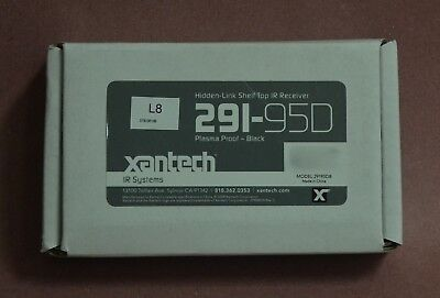 Xantech 291-95D Hidden-Link Shelf Top IR Receiver Plasma Proof Black