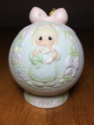 Precious Moments Annual 1997 Christmas Ornament Ball with Stand
