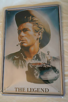 RETRO STYLE TIN SIGN - JAMES DEAN - The Legend.
