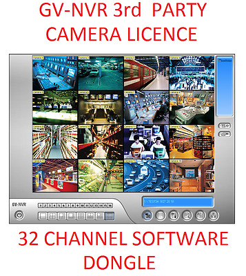 IP Software Dongle Licence 3rd Party/Geovision IP Camera's  16 or 32Ch GV-NVR.