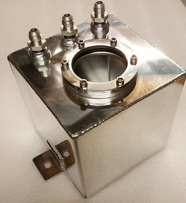 1.5 Litre Swirl Pot Fuel Tank Bosch 044 Fuel Pump Polished Aluminium Drift Race
