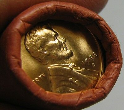 1952 D Obw Original Bank Wrapped Roll Bu Uncirculated Lincoln Wheat Cent Pennies