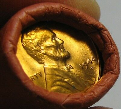 1944 D Obw Original Bank Wrapped Roll Bu Uncirculated Lincoln Wheat Cent Pennies