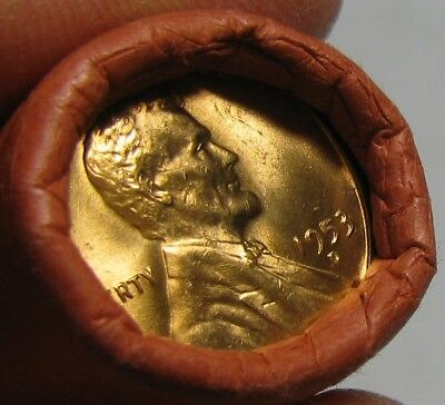 1953 D Obw Original Bank Wrapped Roll Bu Uncirculated Lincoln Wheat Cent Pennies