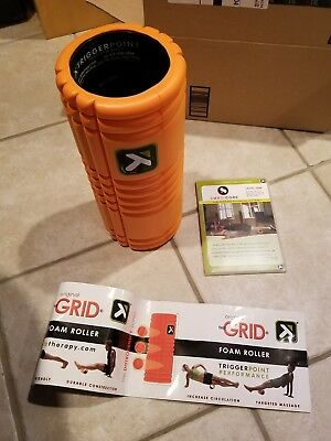 NEW Trigger Point Performance The Grid Revolutionary Foam Roller Orange with DVD