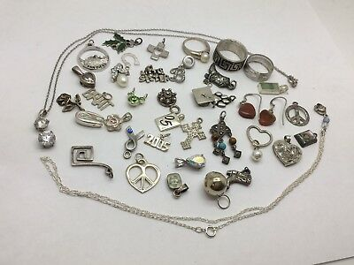 Sterling Silver .925 Lot 39 Pieces 67.2 Grams Lot 22