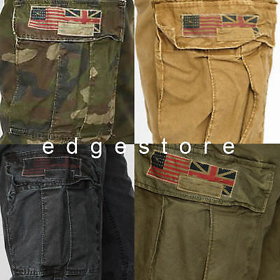 latest selection big discount of 2019 classic fit DENIM SUPPLY RALPH Lauren Men Military Army Vintage US UK Flag Field Cargo  Pants