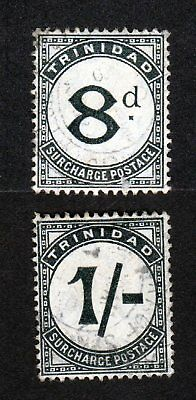 Trinidad Scott Numbers J16 and J17 Used Postage Due Stamps