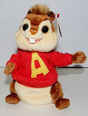 "Alvin Ty Beanie Babie with tags 7"" Chipmunks Plush  2008"