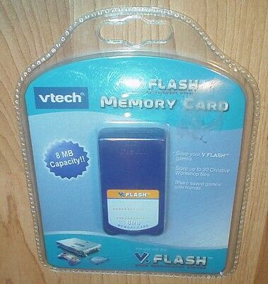 V. FLASH Memory Card v flash 8mb capacity.Vtech.. New Sealed    v tech