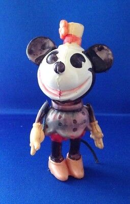 """Disney Minnie Mouse Celluloid with tail circa 1930's approx 5"""" tall"""