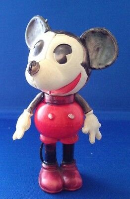 """Disney Mickey Mouse Celluloid with tail circa 1930's approx 4-3/4"""" tall"""