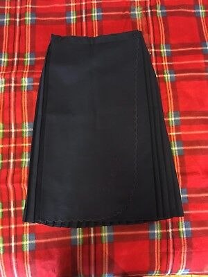 1960s Navy Skirt Wrap Style Knife Pleats