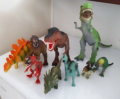 Toy Dinosaurs Large and Small
