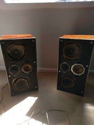 vintage B&O Bang and Olufsen Beovox 4702 speakers