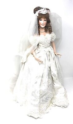 Lily By Patricia Rose Porcelain Doll, Paradise Galleries Bridal Beauties