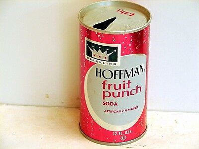 Hoffman Fruit Punch; American Bev. Corp.; College Point, NY; steel soda pop can