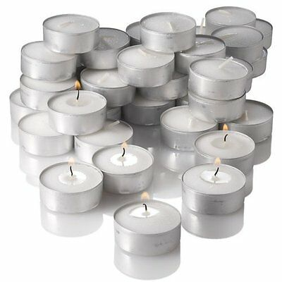 200 Ct Lot Tealights Tea Lights Unscented Wedding Party Candles White  Bulk