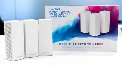 Linksys - Velop Tri-Band Whole Home Wi-Fi System (3-pack) - White (WHW0303)