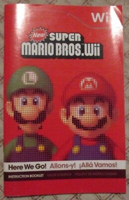 Nintendo Wii - New Super Mario Bros Wii (Bilingual manual only)