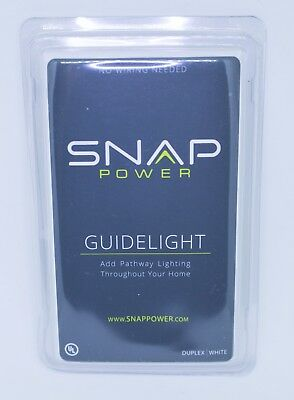 Snap Power Outlet Cover with LED Sensor Nightlight Standard White