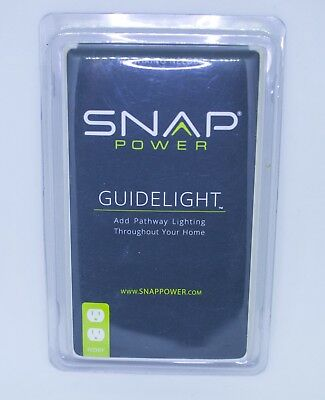 Snap Power Outlet Cover with LED Sensor Nightlight Standard Ivory