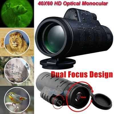 Day&Night Vision 40X60 HD Optical Monocular Outdoor Hunting Hiking Telescope USA