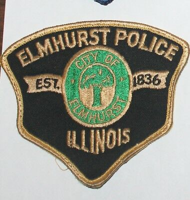 CITY OF ELMHURST POLICE DEPT Illinois Il ILL PD Used Worn patch