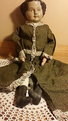 "UNUSUAL China head doll. Large 21""tall.  SPOOKY!"