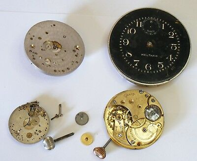 Omega & Waltham watch parts